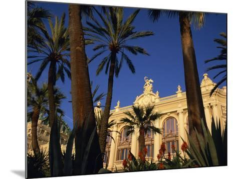 Casino Framed by Flowers and Palm Trees in Monte Carlo, Monaco, Europe-Tomlinson Ruth-Mounted Photographic Print