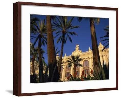 Casino Framed by Flowers and Palm Trees in Monte Carlo, Monaco, Europe-Tomlinson Ruth-Framed Art Print