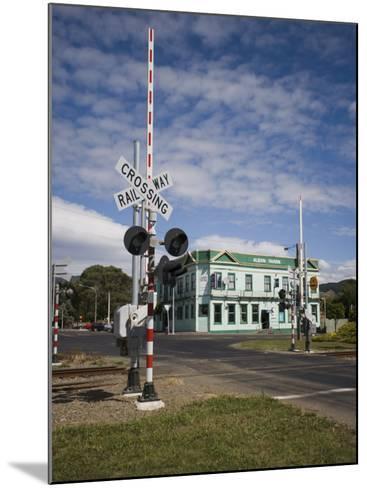 Railway Crossing, Shannon, Manawatu, North Island, New Zealand, Pacific-Smith Don-Mounted Photographic Print