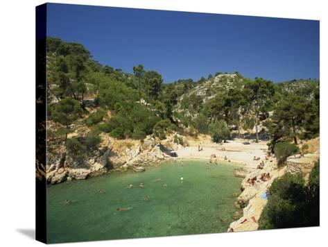Calanque De Port-Pin, Cassis, Bouches-Du-Rhone, Cote D'Azur, Provence, France, Mediterranean-Tomlinson Ruth-Stretched Canvas Print