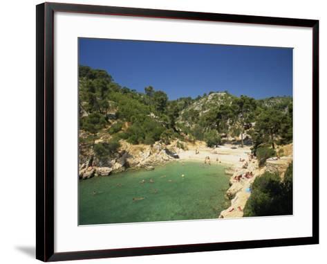 Calanque De Port-Pin, Cassis, Bouches-Du-Rhone, Cote D'Azur, Provence, France, Mediterranean-Tomlinson Ruth-Framed Art Print
