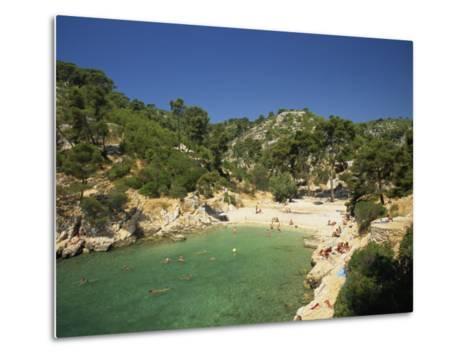 Calanque De Port-Pin, Cassis, Bouches-Du-Rhone, Cote D'Azur, Provence, France, Mediterranean-Tomlinson Ruth-Metal Print
