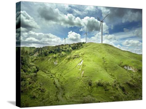 Te Apiti Wind Farm, on the Lower Ruahine Ranges, Manawatu, North Island, New Zealand, Pacific-Smith Don-Stretched Canvas Print