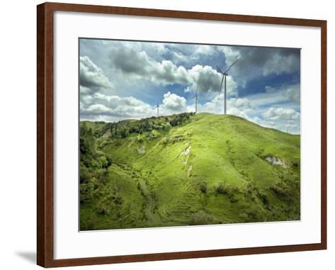 Te Apiti Wind Farm, on the Lower Ruahine Ranges, Manawatu, North Island, New Zealand, Pacific-Smith Don-Framed Art Print