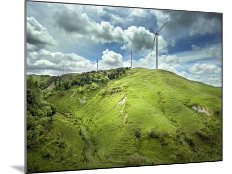 Te Apiti Wind Farm, on the Lower Ruahine Ranges, Manawatu, North Island, New Zealand, Pacific-Smith Don-Mounted Photographic Print