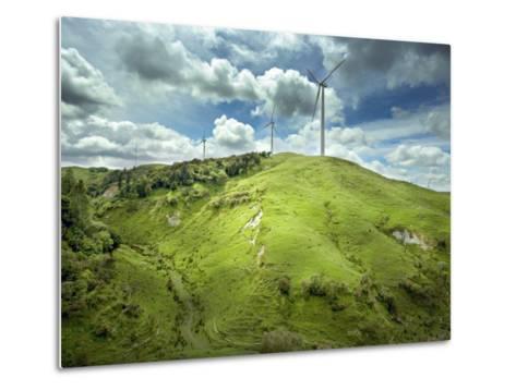 Te Apiti Wind Farm, on the Lower Ruahine Ranges, Manawatu, North Island, New Zealand, Pacific-Smith Don-Metal Print