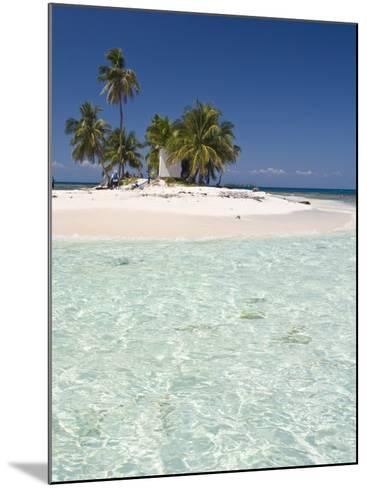 Palm Trees on Beach, Silk Caye, Belize, Central America-Jane Sweeney-Mounted Photographic Print