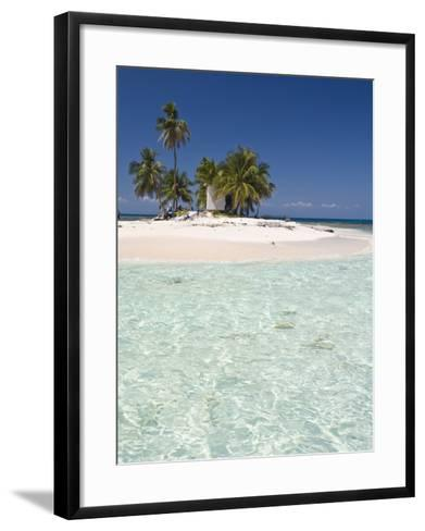 Palm Trees on Beach, Silk Caye, Belize, Central America-Jane Sweeney-Framed Art Print