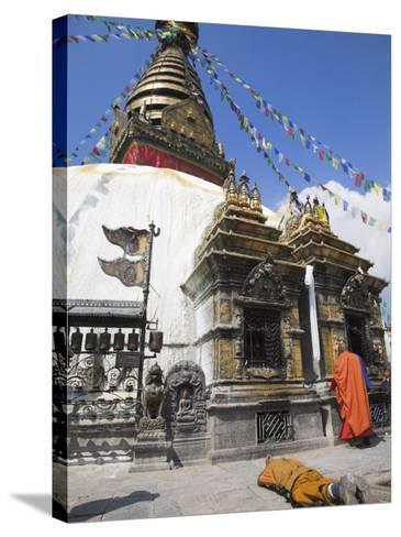 Swayambhunath Stupa, UNESCO World Heritage Site, Kathmandu, Nepal-Jane Sweeney-Stretched Canvas Print