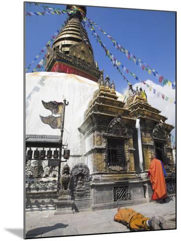 Swayambhunath Stupa, UNESCO World Heritage Site, Kathmandu, Nepal-Jane Sweeney-Mounted Photographic Print