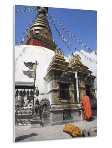 Swayambhunath Stupa, UNESCO World Heritage Site, Kathmandu, Nepal-Jane Sweeney-Metal Print