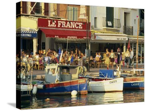 View across the Harbour in the Evening, Cassis, Bouches-Du-Rhone, Cote D'Azur, Provence, France-Tomlinson Ruth-Stretched Canvas Print
