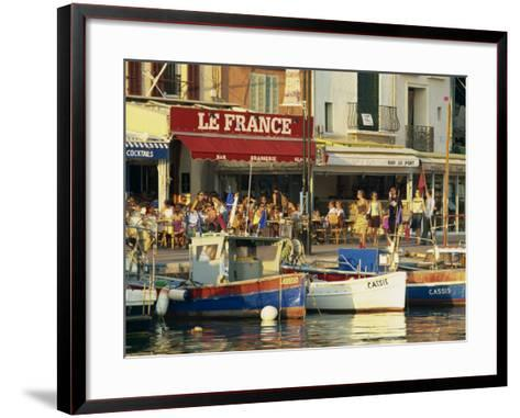View across the Harbour in the Evening, Cassis, Bouches-Du-Rhone, Cote D'Azur, Provence, France-Tomlinson Ruth-Framed Art Print