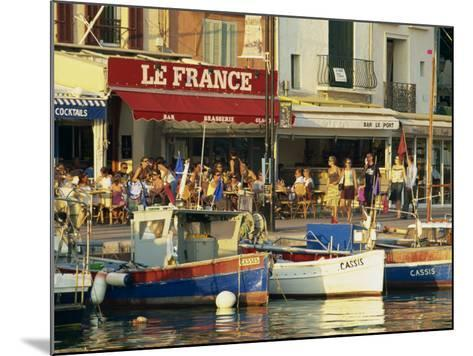 View across the Harbour in the Evening, Cassis, Bouches-Du-Rhone, Cote D'Azur, Provence, France-Tomlinson Ruth-Mounted Photographic Print
