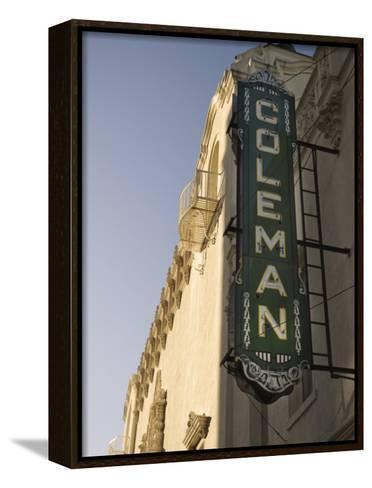 Coleman Theatre, Miami, Oklahoma, United States of America, North America-Snell Michael-Framed Canvas Print