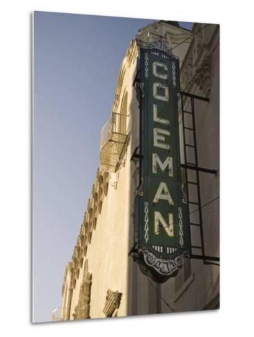 Coleman Theatre, Miami, Oklahoma, United States of America, North America-Snell Michael-Metal Print