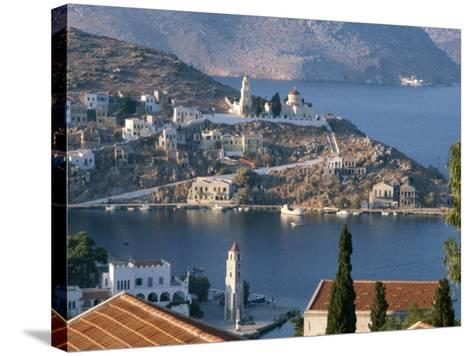 Aerial View over Yalos, Symi, Dodecanese Islands, Greek Islands, Greece, Europe-Stanley Storm-Stretched Canvas Print