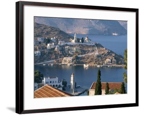 Aerial View over Yalos, Symi, Dodecanese Islands, Greek Islands, Greece, Europe-Stanley Storm-Framed Art Print