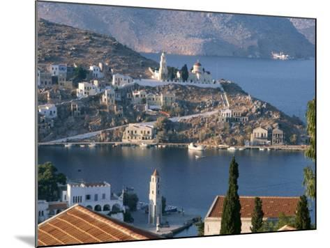 Aerial View over Yalos, Symi, Dodecanese Islands, Greek Islands, Greece, Europe-Stanley Storm-Mounted Photographic Print