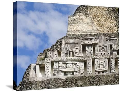 Frieze on the 130Ft High El Castillo, Xunantunich Ruins, San Ignacio, Belize, Central America-Jane Sweeney-Stretched Canvas Print