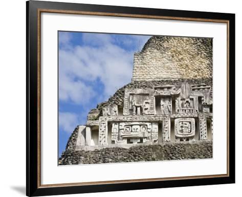 Frieze on the 130Ft High El Castillo, Xunantunich Ruins, San Ignacio, Belize, Central America-Jane Sweeney-Framed Art Print
