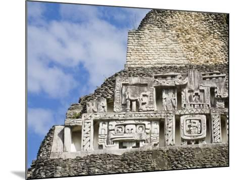 Frieze on the 130Ft High El Castillo, Xunantunich Ruins, San Ignacio, Belize, Central America-Jane Sweeney-Mounted Photographic Print
