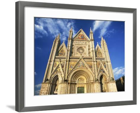 Facade of the Cathedral, Orvieto, Umbria, Italy, Europe-Tomlinson Ruth-Framed Art Print