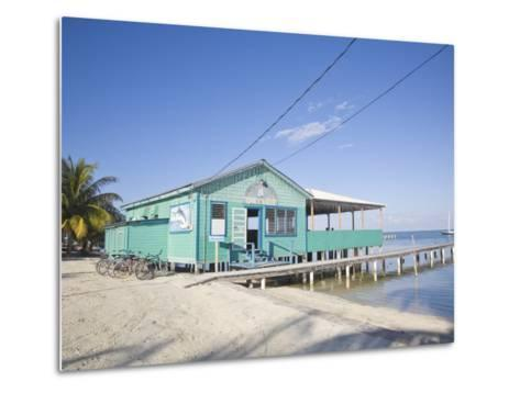 Rainbow Grill and Bar, Caye Caulker, Belize, Central America-Jane Sweeney-Metal Print