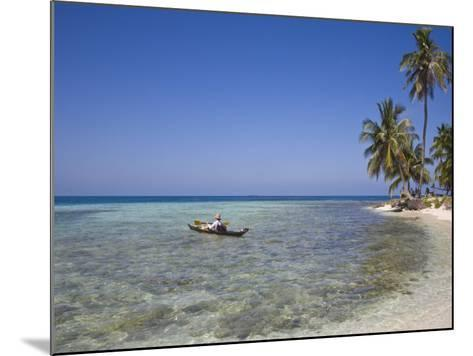 Tourist in Sea Cayak, Silk Caye, Belize, Central America-Jane Sweeney-Mounted Photographic Print