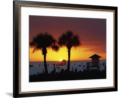 Sunset from Siesta Beach, Siesta Key, Sarasota, Florida, United States of America, North America-Tomlinson Ruth-Framed Art Print