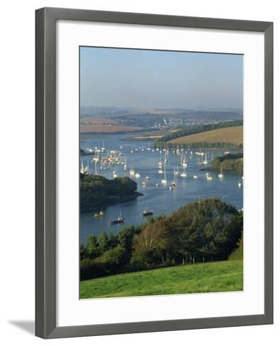 View over the Kingsbridge Estuary from East Portlemouth, Salcombe, Devon, England, United Kingdom-Tomlinson Ruth-Framed Art Print