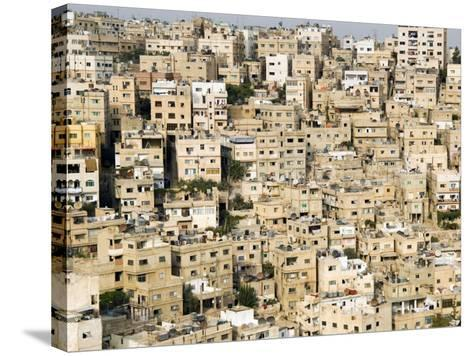 View over City, Amman, Jordan, Middle East-Tondini Nico-Stretched Canvas Print