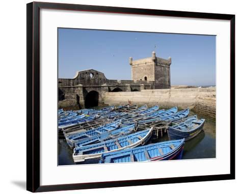 Skala of the Port, the Old Fishing Port, Essaouira, Historic City of Mogador, Morocco-De Mann Jean-Pierre-Framed Art Print