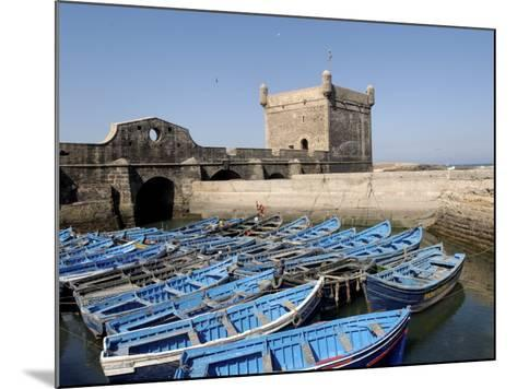 Skala of the Port, the Old Fishing Port, Essaouira, Historic City of Mogador, Morocco-De Mann Jean-Pierre-Mounted Photographic Print