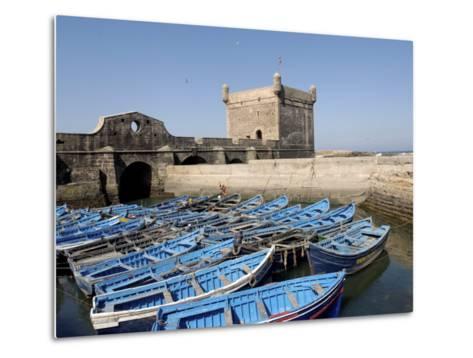Skala of the Port, the Old Fishing Port, Essaouira, Historic City of Mogador, Morocco-De Mann Jean-Pierre-Metal Print