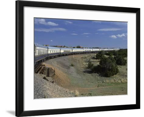 View from Open Doorway on the American Orient Express Train, Travelling in the Southwest U.S., USA-Alison Wright-Framed Art Print