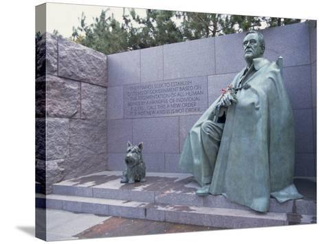 Memorial to Fdr, in Washington Dc, United States of America, North America-Alison Wright-Stretched Canvas Print