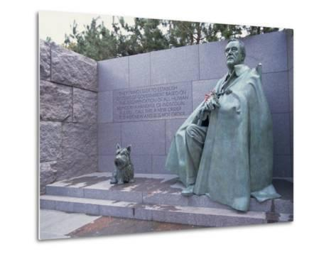 Memorial to Fdr, in Washington Dc, United States of America, North America-Alison Wright-Metal Print