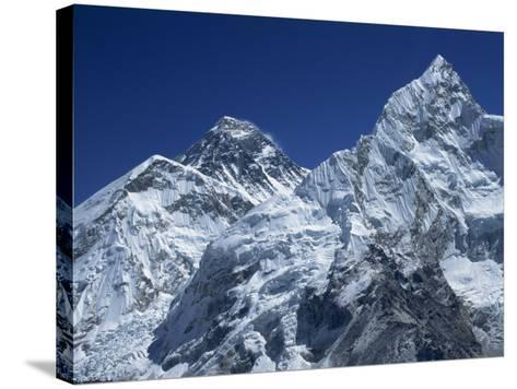 Snow-Capped Peak of Mount Everest, Seen from Kala Pattar, Himalaya Mountains, Nepal-Alison Wright-Stretched Canvas Print
