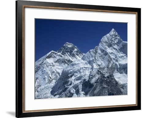 Snow-Capped Peak of Mount Everest, Seen from Kala Pattar, Himalaya Mountains, Nepal-Alison Wright-Framed Art Print