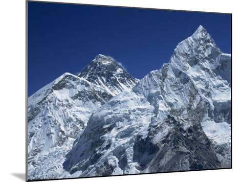 Snow-Capped Peak of Mount Everest, Seen from Kala Pattar, Himalaya Mountains, Nepal-Alison Wright-Mounted Photographic Print