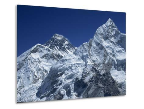 Snow-Capped Peak of Mount Everest, Seen from Kala Pattar, Himalaya Mountains, Nepal-Alison Wright-Metal Print