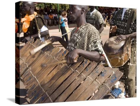 Balafon Players During Festivities, Sikasso, Mali, Africa-De Mann Jean-Pierre-Stretched Canvas Print