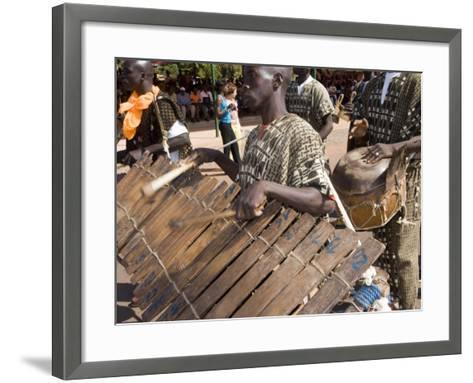 Balafon Players During Festivities, Sikasso, Mali, Africa-De Mann Jean-Pierre-Framed Art Print