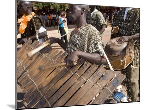 Balafon Players During Festivities, Sikasso, Mali, Africa-De Mann Jean-Pierre-Mounted Photographic Print