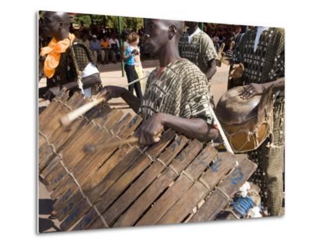 Balafon Players During Festivities, Sikasso, Mali, Africa-De Mann Jean-Pierre-Metal Print