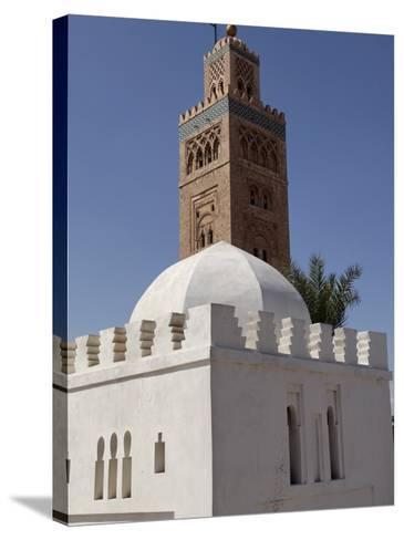 Koutoubia Minaret, Marrakesh, Morocco-De Mann Jean-Pierre-Stretched Canvas Print
