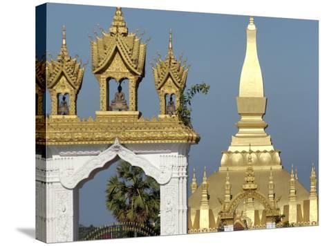 That Luang Stupa, Largest in Laos, Built 1566 by King Setthathirat, Vientiane, Laos, Southeast Asia-De Mann Jean-Pierre-Stretched Canvas Print