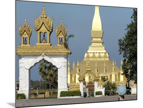 That Luang Stupa, Largest in Laos, Built 1566 by King Setthathirat, Vientiane, Laos, Southeast Asia-De Mann Jean-Pierre-Mounted Photographic Print