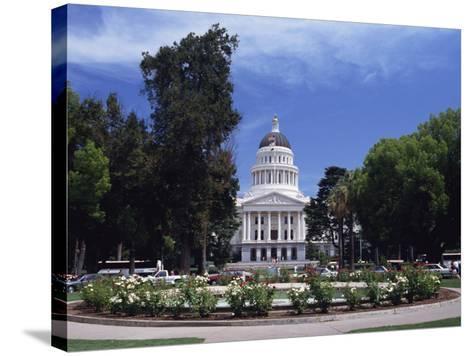 Exterior of the State Capitol Building, Built in 1874, Sacramento, California, USA-Traverso Doug-Stretched Canvas Print